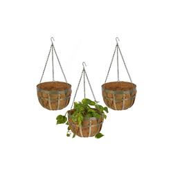 relaxdays Blumenampel Blumenampel 3er-Set grün