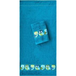 Handtücher Eulen, Dyckhoff blau Badetücher