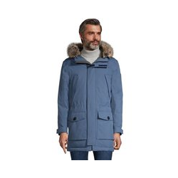 Expeditions-Parka, Herren, Größe: L Normal, Blau, Nylon, by Lands' End, Beringmeerblau - L - Beringmeerblau