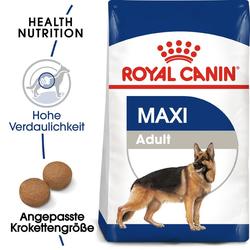 ROYAL CANIN Maxi Adult Trockenfutter für große Hunde 30 kg (2 x 15 kg)