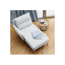 PLACE TO BE. Recamiere, Recamiere Ottomane Chaiselongue Sitzbank Polsterbank Tagesbett Daybed mit Armlehne links weiß