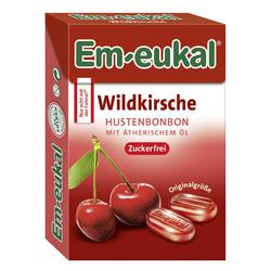 EM EUKAL Bonbons Wildkirsche zuckerfrei Box 50 g