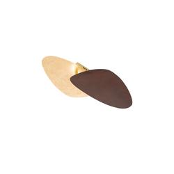 Wofi LED-Deckenleuchte Belana in gold-/rostfarbig