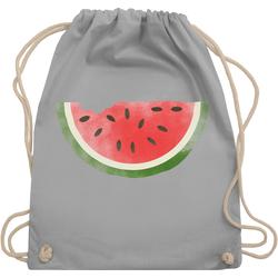 Shirtracer Turnbeutel Wassermelone Wasserfarbe - Bunt gemischt Kinder - Turnbeutel