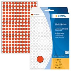 HERMA Klebepunkte 2212 rot Ø 8,0 mm