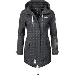 MARIKOO Damen Mantel  'Zimtzicke' schwarz, Größe L, 4279143