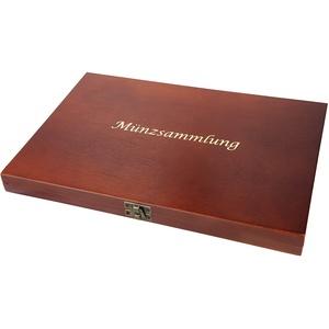 MC.Sammler Holz Münzkassette für 35 Münzen – 36 mm x 36 mm | 23 Varianten zur Auswahl |