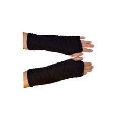 Posh Gear Armstulpen Alpaka Handstulpen 100% Alpakawolle schwarz