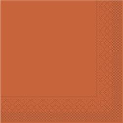 Mank Servietten aus Tissuewatte, 25 x 25 cm, 1/4 Falz, 3-lagig, 1 Karton = 2 x 1200 Stück = 2400 Stück, terrakotta