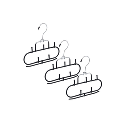 relaxdays Gürtelbügel 3er Set Gürtelhalter mit 5 Haken