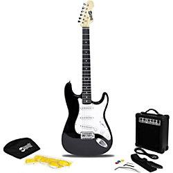 PDT RockJam Elec Guitar Super Kit Schwarz