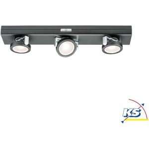 Paulmann LED Schrankleuchte ROTATE LED Unterbauleuchte, 3er Spot, 6x1,5V AAA, anthrazit, dimmbar, batteriebetrieben EEK: A++ - A PAUL-70636