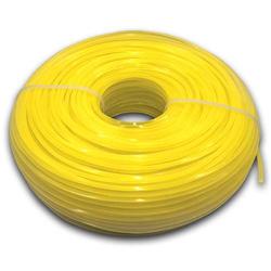 vhbw Mähfaden Trimmerfaden mit 2,4mm Durchmesser passend für Rasentrimmer Motorsense - 88 Meter, 4-eckig, Gelb, Nylon - Rasentrimmerfaden Ersatzfade