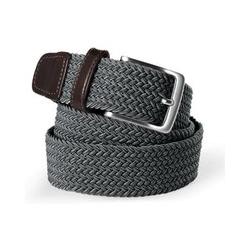 Elastischer Flechtgürtel - XL - Grau