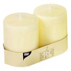 2 PAPSTAR Kerzen elfenbein