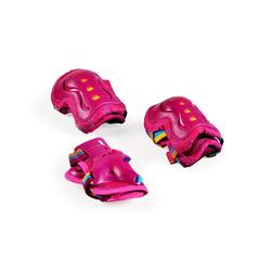 Byox Kinder-Schutzausrüstung Kinder Schutzausrüstung Nina S, in pink bis 25 kg Knie Ellenbogen Handgelenk