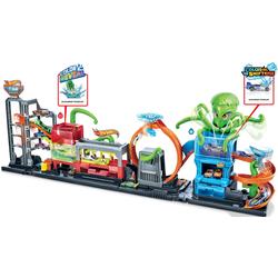 Hot Wheels Spiel-Gebäude Color Reveal Autowaschanlage, inkl. 1 Farbwechsel-Spielzeugauto bunt Kinder Zubehör für Spielzeugautos Autos, Eisenbahn Modellbau
