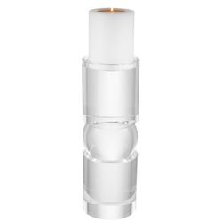 Casa Padrino Luxus Kristallglas Kerzenhalter 12,5 x H. 36 cm - Luxus Qualität