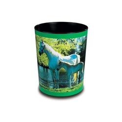Papierkorb Motivposter 13 Liter Pferd und Fohlen am See