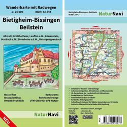 Bietigheim-Bissingen - Beilstein 1 : 25 000 Blatt 52-543