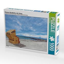 Einsamer Strandkorb an der Ostsee Lege-Größe 64 x 48 cm Foto-Puzzle Bild von www.fotografie-dehaan.de Puzzle