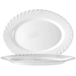Platte oval 35 cm Form Trianon uni weiß - ARCOPAL