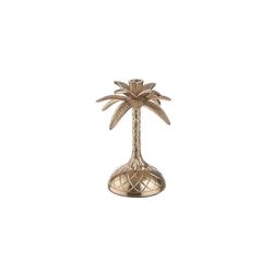 BUTLERS Kerzenhalter GOLDEN NATURE Kerzenhalter Palme Höhe 23cm