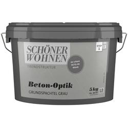 SCHÖNER WOHNEN FARBE Spachtelmasse Betonoptik Grundspachtel grau, 5 kg grau