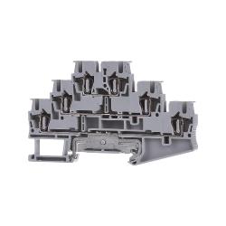 Dreistock-Klemme grau ST 2,5-PE/L/L