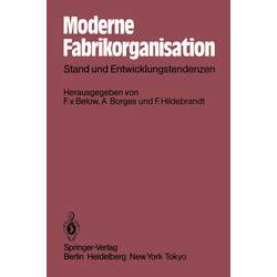 Moderne Fabrikorganisation als Buch von