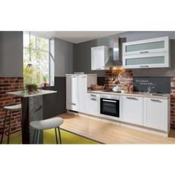 Menke Küchen Küchenzeile Premium White Landhaus 300 cm, inkl. Geschirrspüler
