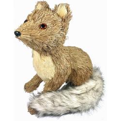 Tierfigur Fuchs (1 Stück), aus Bast und Kunstpelz