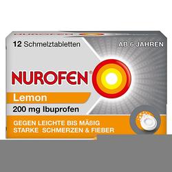 NUROFEN Schmelztabletten Lemon bei Kopfschmerzen 200mg 12 St