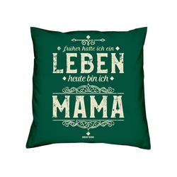 Soreso® Dekokissen Kissen Heute bin ich Mama & Urkunde, Geschenke für Mütter Geschenkidee grün