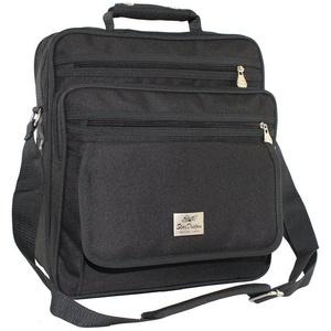 SHG Messenger Bag Arbeitstasche Herren Umhängetasche Schultertasche Baustellentasche Flugbegleiter Hochformat XXL schwarz