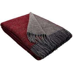 Wolldecke Wolldecke TIROL (doubleface) aus 100% Schurwolle, STTS rot