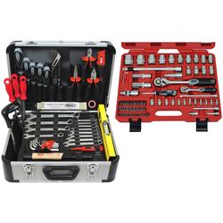 FAMEX Werkzeugset 729-24, (107-St), im Werkzeugkoffer