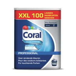 Coral Professional Optimal Color Waschmittel, Phosphatfreies Waschmittel für Fein- und Buntwäsche, 6,25 kg - Trommel für ca. 100 Wäschen