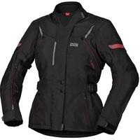 IXS Tour Liz-ST Damen Motorrad Textiljacke, schwarz-rot, Größe XS