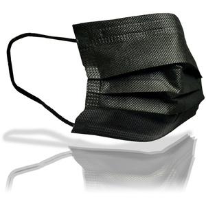 1-50x Einweg Behelfs Gesichtsmasken Mund Nasen Bedeckung Community Maske schwarz