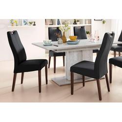 4-Fußstuhl schwarz Holzstühle Stühle Sitzbänke