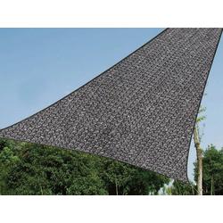 PEREL Sonnensegel, dreieckig Dreieck-Segel wasserdurchlässig für Terrasse Balkon & Garten Sonnenschutz-Segel grau 500 cm x 500 cm x 500 cm