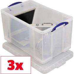 Really Useful Box Aufbewahrungsbox 84C Transparent 84l (B x H x T) 710 x 380 x 440mm 3St.