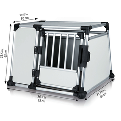 Trixie Hundebox Alubox Autobox für Hunde, L: Breite 93 × Höhe 65 × Tiefe 81 cm