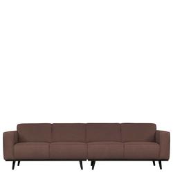 Federkern Sofa in Dunkelbraun Stoff modern