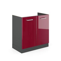 Vicco Spülenschrank Küchenschrank Spülenunterschrank 80 cm R-Line Anthrazit