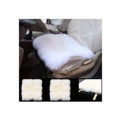 Woltu Sitzkissen, 2er-Set Autositzkissen aus Lammfell, universal