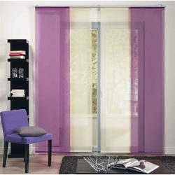 Schiebevorhang Flächenvorhang Gardine Vorhang Kos einfarbig türkis, 245x60 cm