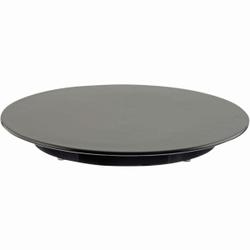 SCHNEIDER Tortenplatte, Melamin, schwarz, Kuchenplatte aus Melamin, Höhe: 30 mm, Ø 320 mm