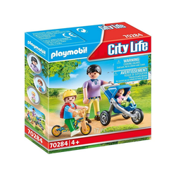 Playmobil® Spielfigur PLAYMOBIL® 70284 - City Life - Mama mit Kindern